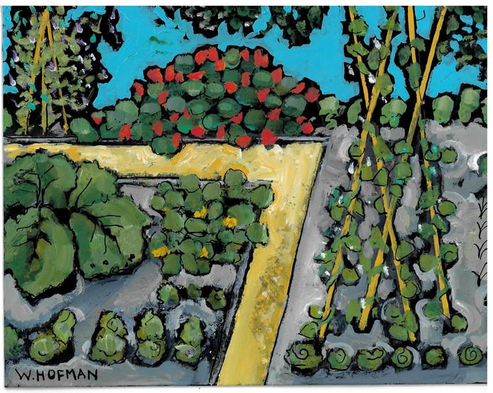 Wim Hofman, illustratie bij column Moestuin