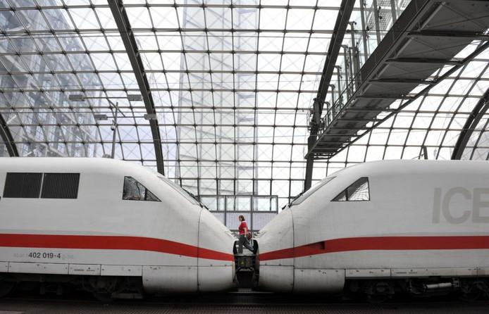 Een ICE-trein in Berlijn.