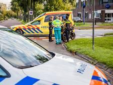 Bromfietser gewond door ongeval