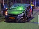 Botsing tussen motor en auto in Wouw