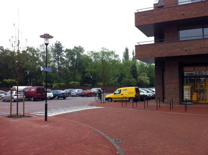 De parkeerplaats van de Jumbo