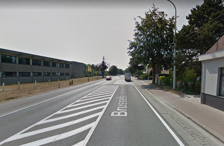 De Brusselsesteenweg in Melle.