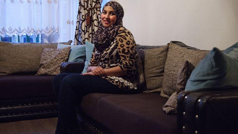 Khadija Ahfid moet morgen uit haar tijdelijke huurwoning Beeld Ernst Coppejans