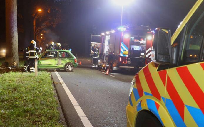 Ongeluk op N65 bij Helvoirt.