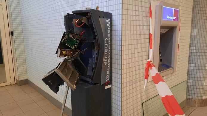 De ontplofte geldwisselautomaat