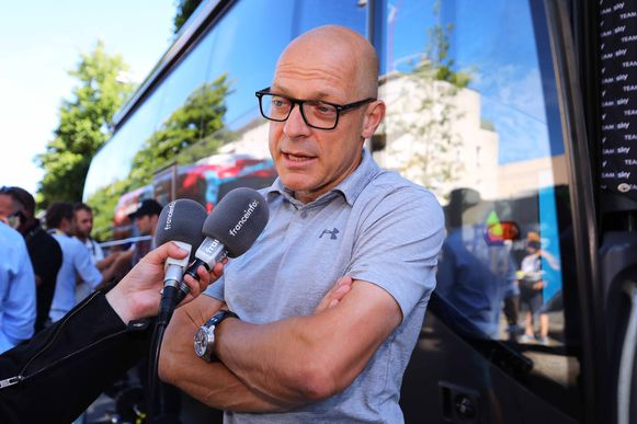 Dave Brailsford, teammanager bij Team Sky.