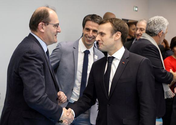 Castex vorig jaar met president Emmanuel Macron.
