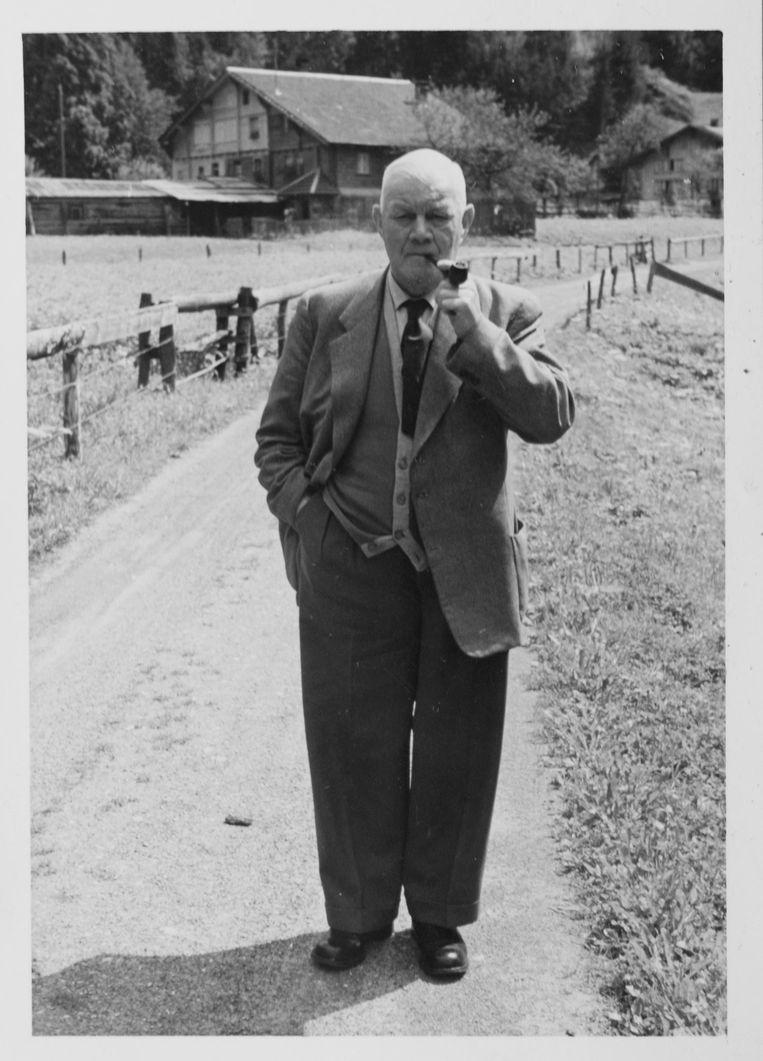 Jack Reynolds in Sankt Gallen, waar hij een tijdje trainer is geweest Beeld Privécollectie Jack Reynolds