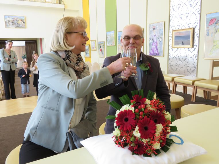 Carol en Patrick zijn getrouwd op 14 februari in Oostende.