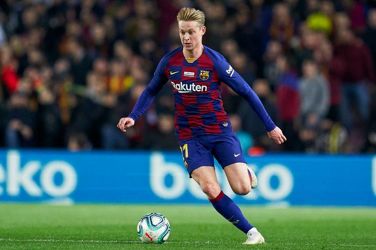 Frenkie de Jong tijdens de wedstrijd FC Barcelona tegen Real Mallorca op zaterdag 7 december.  Beeld Getty Images