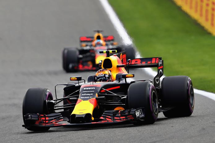 De wagens van Red Bull Racing.