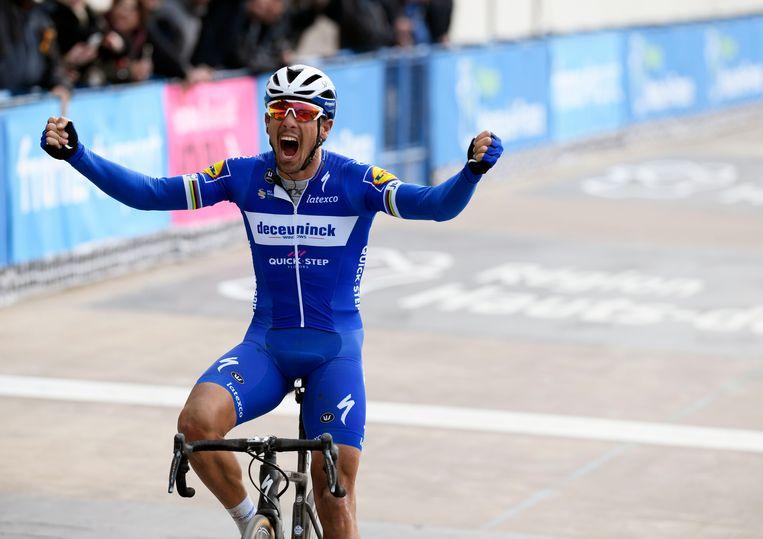 Philippe Gilbert won Parijs-Roubaix.
