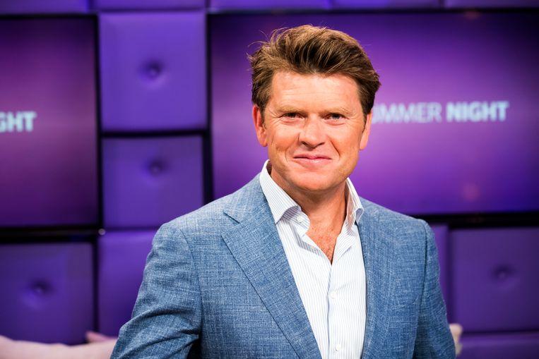 Beau van Erven Dorens in de studio van het programma RTL Summer Night, de zomereditie van RTL Late Night in 2017. Beeld ANP Kippa