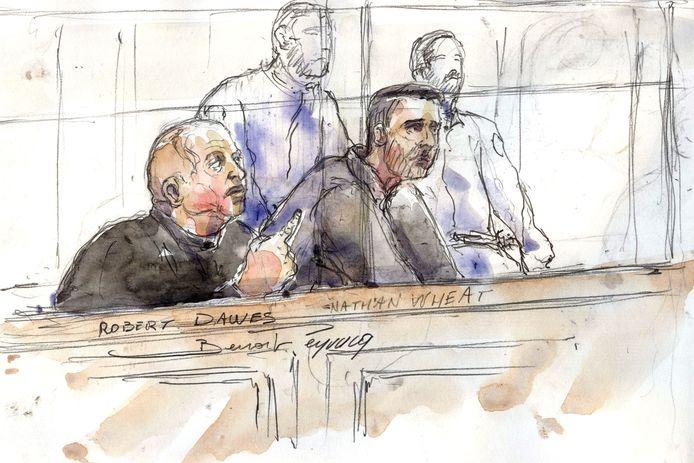 Robert Dawes (links op de tekening)