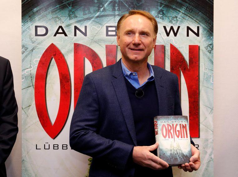 Dan Brown op de presentatie van zijn boek 'Origin'.
