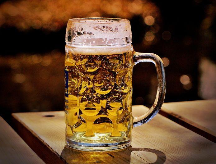 Duitse bierpul ter illustratie.