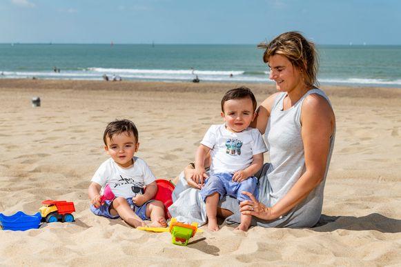 Stéphanie Marinus en tweeling Rémy en Nathan.