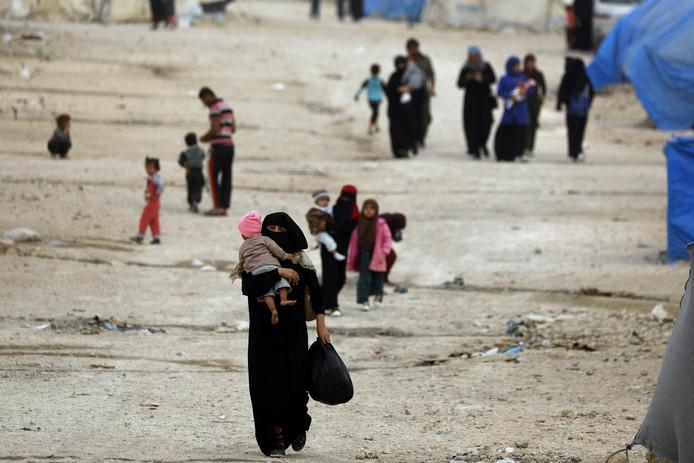 Vluchtelingen- en detentiekamp Ain Issa in Noord-Syrië.