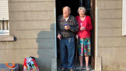 Trompetgeschal voor platina bruiloft van Jef (90) en Georgette (92)