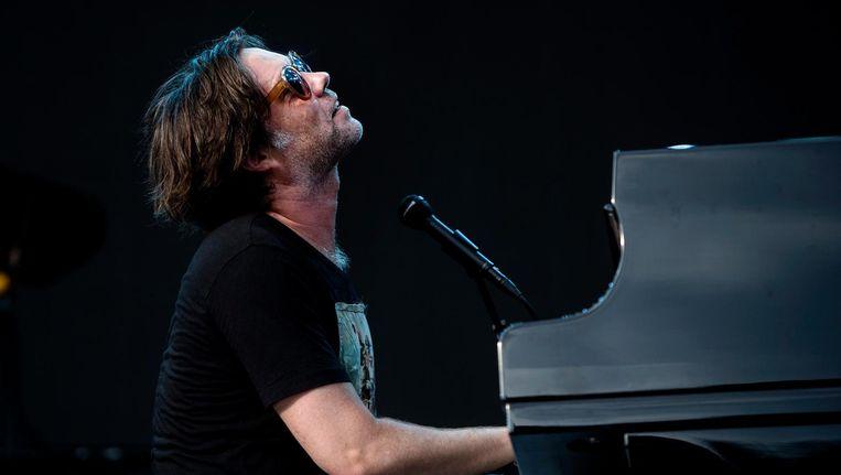 Singer-songwriter Rufus Wainwright treedt op tijdens het Stockholm Music and Arts festival, 2016. Beeld EPA
