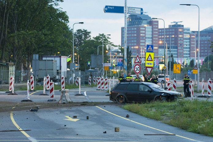 Drie leden van de zogeheten Audibende crashten in 2017 op het Anne Frankplein in Utrecht