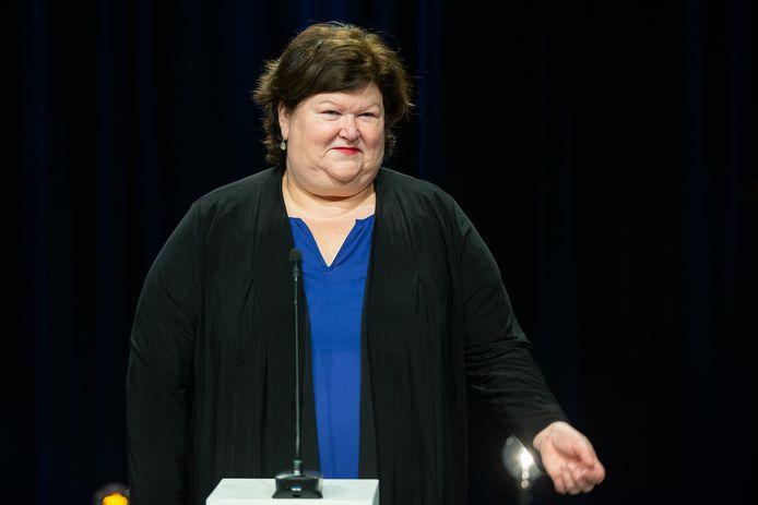 Maggie De Block, ministre de la Santé et des Affaires sociales,.