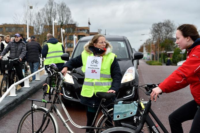 Actie voor het fietspad langs de Raadhuisweg/Zoutmansweg.
