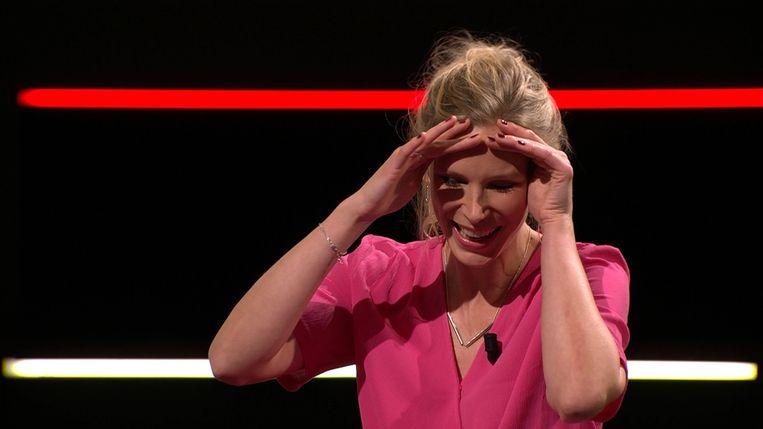 Julie Colpaert verbreekt het 'verdoemde' record in 'De Slimste Mens ter Wereld'.