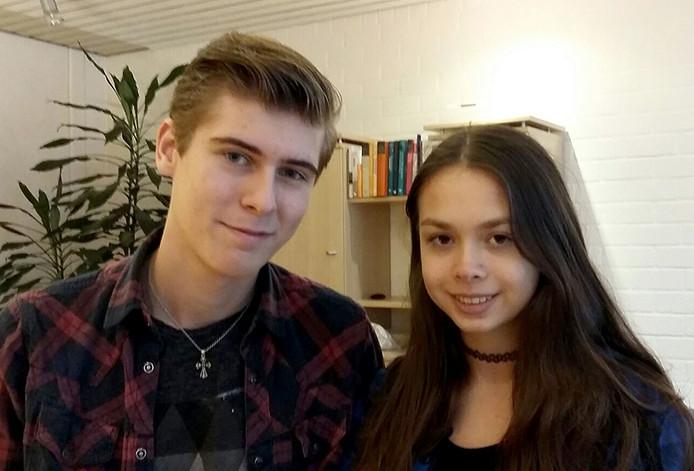 Cas Oerlemans (15) en Eva Herklots (16) uit Breda