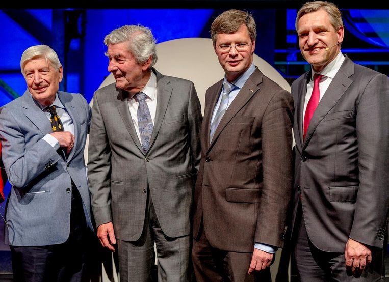 (VLNR) Dries van Agt, Ruud Lubbers, Jan Peter Balkenende en Sybrand Buma Beeld anp