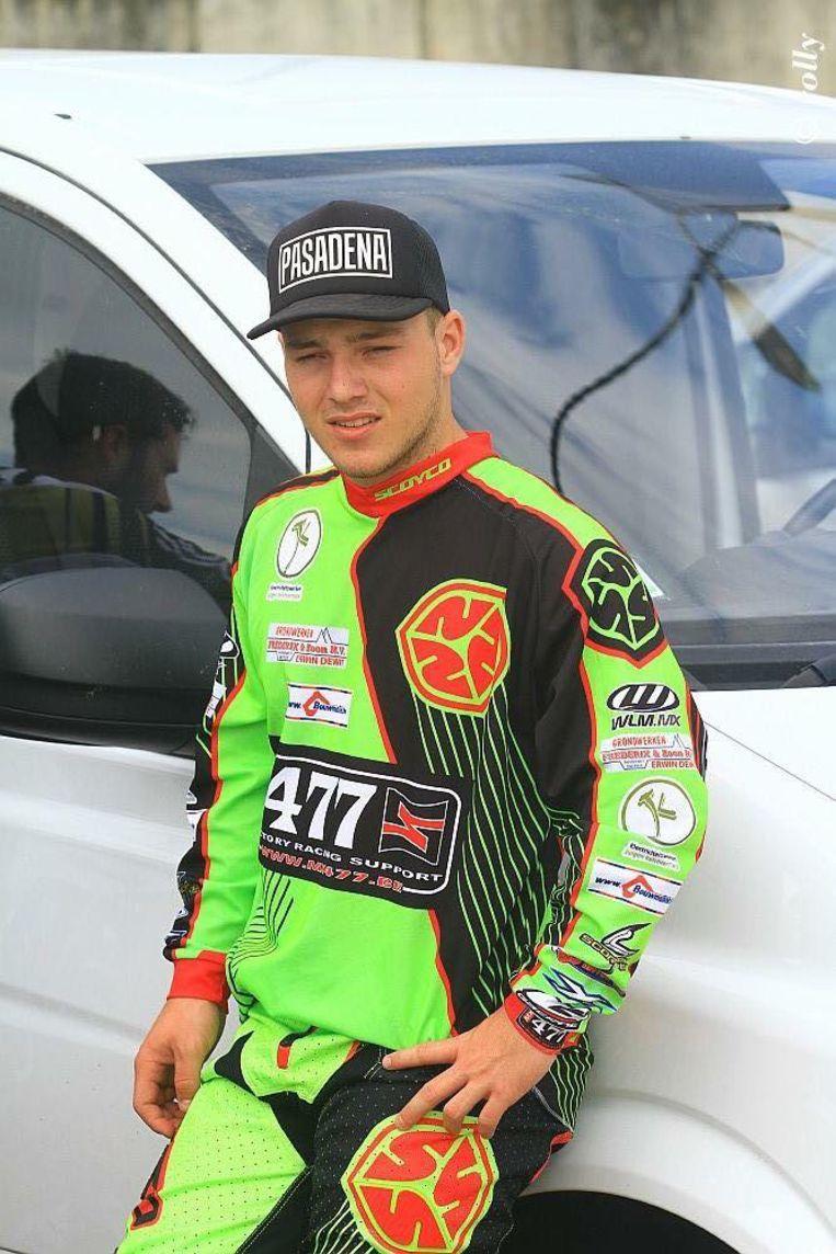 Berre Brands in zijn periode als motorcrosser.