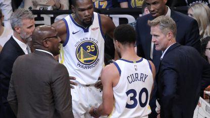 Curry en Durant leiden Warriors voorbij Brooklyn, Oklahoma City veegt nul weg