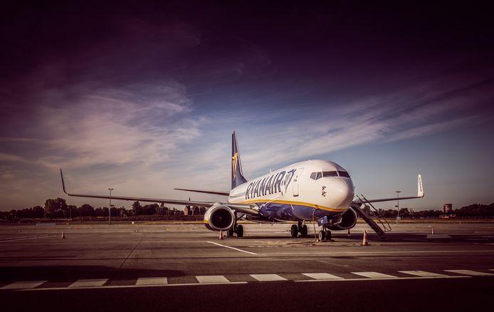 Un avion de la compagnie Ryanair à l'aéroport de Charleroi.