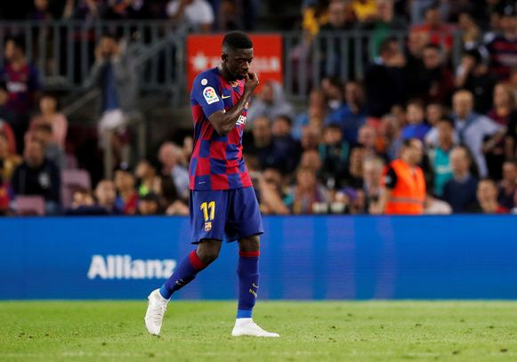 Dembélé tegen Sevilla dit weekend.