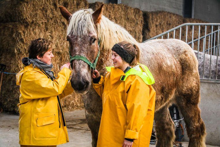 Als Katrien Terryn (rechts) slaagt, krijgt Nele Bekaert er een vrouwelijke collega-paardenvisser bij.