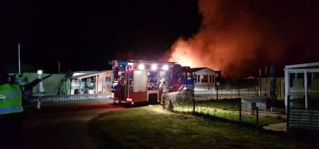 Chalet uitgebrand op camping in Aalten