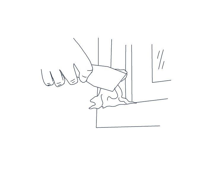 illustratie klusvrouw Hieke bij 'houtrot' Tjitske Sluis