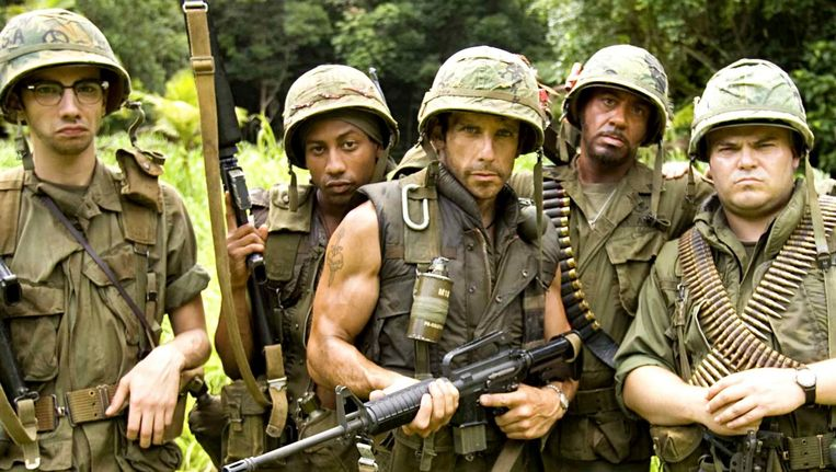 Ben Stiller in Tropic Thunder (2008). Beeld RV