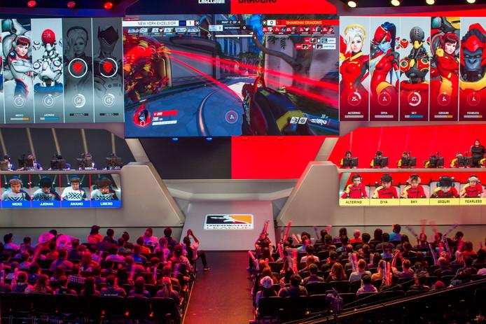 Publiek bij een toernooi georganiseerd in Amerika. Ter illustratie.