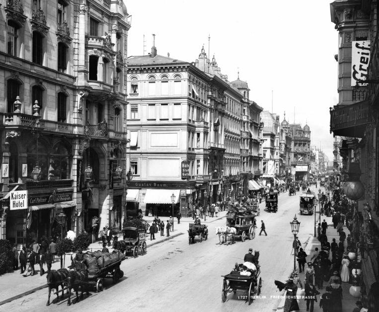 Friedrichstrasse, Berlijn 1890 Beeld Getty Images
