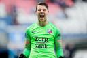 Maarten Paes is blij na zijn gestopte strafschop.