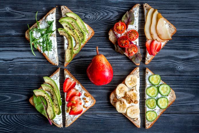 Nederlanders eten weinig groente bij het ontbijt of de lunch.