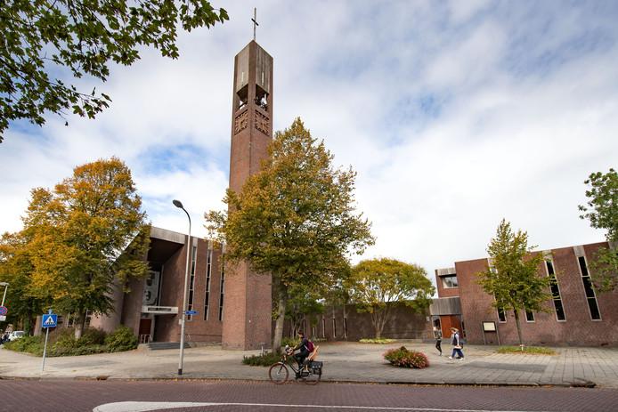 Kerkcentrum De Voorhof in Biddinghuizen, oktober 2018. Op deze plek komt het MFG2 te staan.