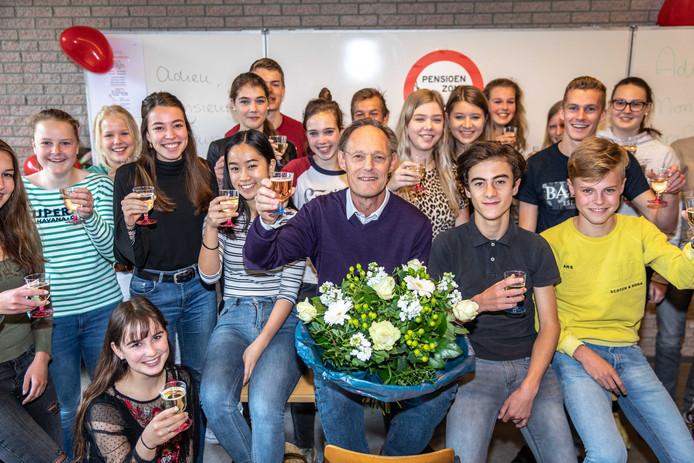 Dingeman Meulmeester neemt na 43 jaar afscheid als docent Frans.