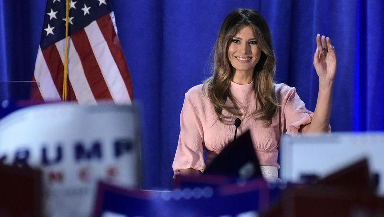 De aanstaande First Lady van de Verenigde Staten Melania Trump. Beeld anp