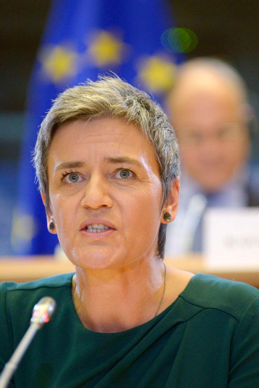 De Deense Margrethe Vestager is Europees commissaris Mededinging Beeld REUTERS