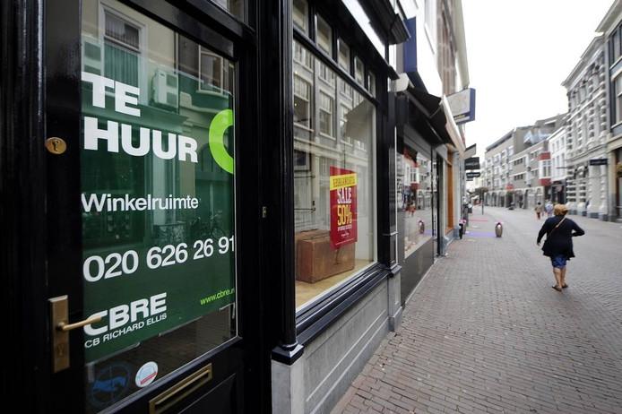 Leegstand in de binnenstad van Arnhem.