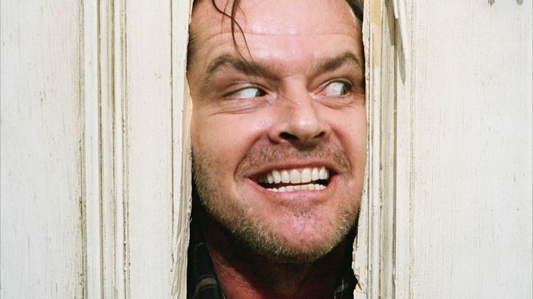 """Here's Johnny!"" Jack Nicholson in The Shining"