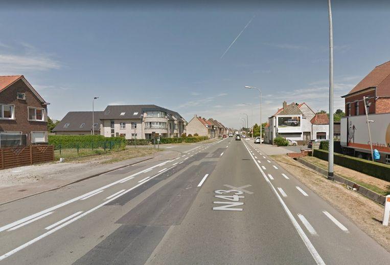 De Kortrijksesteenweg in Deinze.