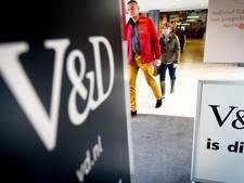'Personeelsgegevens oud-medewerkers V&D op straat'